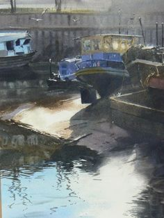 Boat Repair Yard, Brentford by Jonathan Taylor winner of St Cuthberts Mill Award