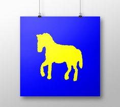 """Poster """"Yellow horse"""" by eliso ignacio silva simancas"""