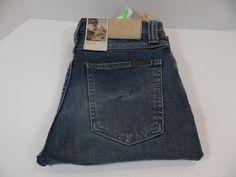 Nudie Jeans High Kai Org. Worn Twill Unisex 28W 34L Sweden Designer Denim  #138 #NudieJeans #SlimSkinny