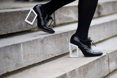 Street Style: Architectural heels in Paris.