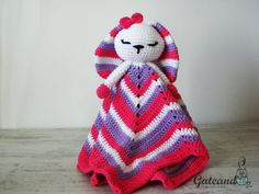 Patron crochet. manta de apego. conejito por GateandoCrochet