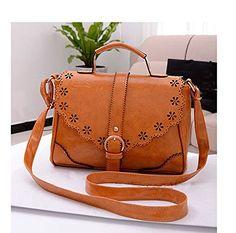 Flying Birds Women Casual Lace Vintage Messenger Shoulder Handbags iHL2694 (Brown)
