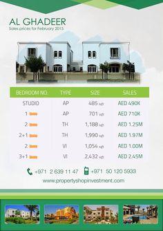 Starting prices for January, in #AlGhadeer, Abu-Dhabi !  #AbuDhabi #startingprices #LovePsi