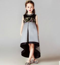Browse The Latest Fashion of Girly Shop Crystal & Flower Applique High Waist & High Low Little Girl Party Dress (1-12 Years). Free Worldwide Shipping!