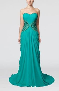 Chiffon Sweetheart Elegant Guest Dresses - Order Link: http://www.theweddingdresses.com/chiffon-sweetheart-elegant-guest-dresses-twdn7310.html - Embellishments: Sequin , Appliques , Paillette , Draped; Length: Court Train; Fabric: Chiffon; Waist: Natural - Price: 146.99USD