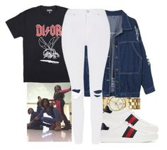 """""""'Squad goals sis"""" by trilltommie ❤ liked on Polyvore featuring Tory Burch, Gucci and Topshop"""