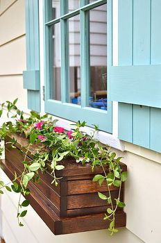 оконная коробка кашпо, контейнер садоводство, цветы, садоводство, как, открытой гостиной, деревообрабатывающих проектов