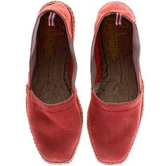 Castañer Onda Coral Canvas espadrilles (€39) ❤ liked on Polyvore featuring shoes, flats, castaner shoes, espadrilles shoes, canvas espadrilles, flat shoes and flat pumps