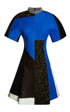 Textured Leather Short Sleeve Patchwork Dress by Proenza Schouler - Moda  Operandi Patchwork Dress, Leather 4e26e69c4ac