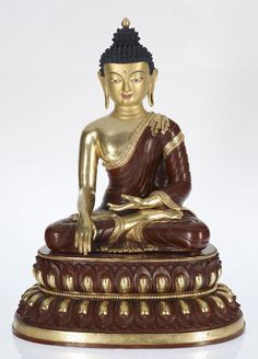 Gold 24K Layered With Precious Stones Shakyamani Buddha