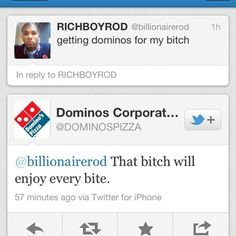 Why I love Domino's Marketing & Social Media Team. Even if they never responded to my cheesy bread gripe