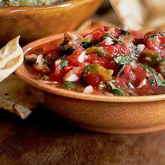 Salsa de Molcajete (Roasted Tomato and Green Chile Salsa) | CookingLight.com