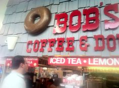 Bob's Donuts - Farmer's Market, L.A.  the very best in the whole wide world.  None of those fancy maple bacon donuts.  Gimme Bob's any day.