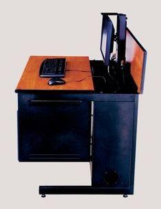 Hidden Desks smart lift™ for hidden monitor table! | fun office | pinterest