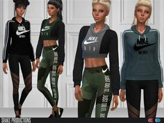 This set contains;  Found in TSR Category 'Sims 4 Female Clothing Sets'