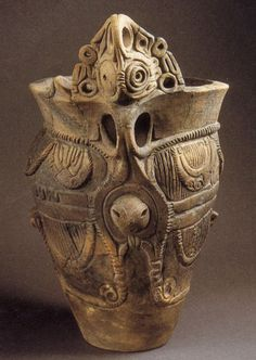Japanese clay vessel made in Jyomon era (BC 145~3000)