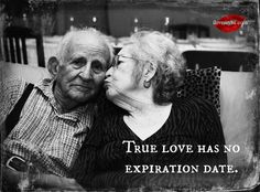 True love has no expiration date. <3 Want a lot more amazing love quotes? Visit our Facebook page! https://www.facebook.com/LoveSexIntelligence  #love #truelove #growingoldtogether #elderly #old #couple #romance #romantic #ilovemylsi