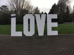 Giant LOVE letters #wedding #LOVE marquee lettering Available to hire from Carlton Hamilton