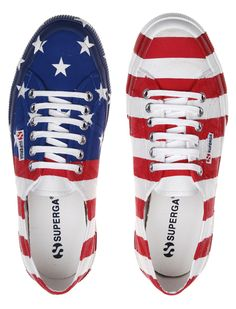 Patriotism! The shoe is nice though. GQ.com SupergaUSA Kicks