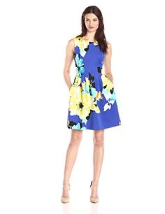 Vince Camuto Women's Sleeveless Floral Fit and Flare Dress, Blue/Multi, 8 Vince Camuto http://smile.amazon.com/dp/B00RVTP6TI/ref=cm_sw_r_pi_dp_WXAjvb0Z1G1YW