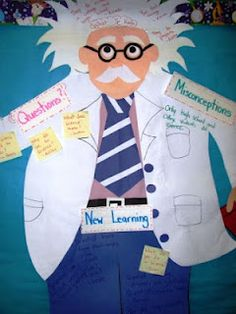 Make this to hang in the Science area of the classroom! Super cute Einstein!!!