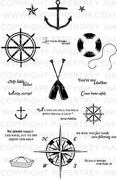 Out to sea Nautical Cards, Card Sentiments, Out To Sea, Graphic Design Templates, Scrapbook Supplies, Scrapbooking, Masculine Cards, Compass Tattoo, Clear Stamps