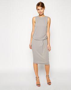 ASOS Midi Dress with Drape Top http://asos.to/Zkb2EJ