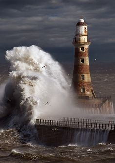 Roker Lighthouse. Sunderland UK