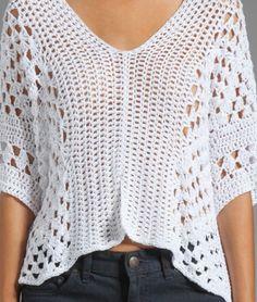Crochet tunic PATTERN, designer crochet tunic pattern, boho crochet top. - favoritepatterns.com
