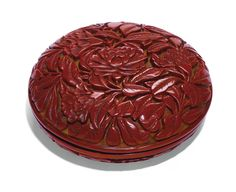 A CINNABAR LACQUER SEAL PASTE BOX AND COVER<br>MING DYNASTY, YONGLE PERIOD | Lot | Sotheby's