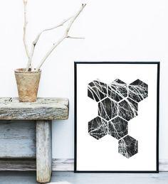 Printable Art Poster abstrait Design scandinave Art par exileprints