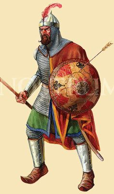 This is what the solders looked like in the Medieval Period.