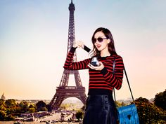 Liu Shishi puts a French twist on a classic look with Vogue Eyewear's Braid Collection of sunglasses.