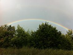 Magnificent rainbow over the M5 this morning.