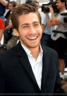 Jake Gyllenhaal, he has such a cute smile.