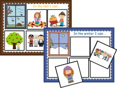 Seasonal Activities Sort! Students match activities with the correct season. $
