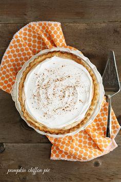 Pumpkin Chiffon Pie | An easy, dreamy alternative to traditional pumpkin pie, and my personal favorite!