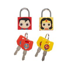 aed63c8931a17 Bioworld 2 Pack Rubber Molded Padlock – Bag King Justice League Characters