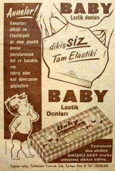 OĞUZ TOPOĞLU : baby lastik donları 1959 nostaljik eski reklamlar