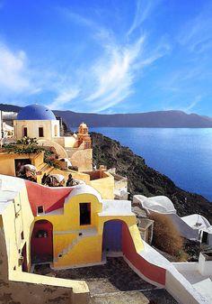 Colours of Oia, Santorini