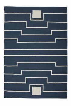Yasmina Flat-Weave Rug, Blue-Green