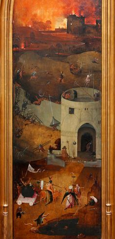Hieronymus Bosch, The Last Judgment, right wing