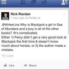 It's complicated. l Rick Riordan.