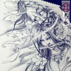 #geishatattoos #irezumi #tattoos #geisha