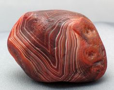 """1.5oz Lake Superior Agate; 4.2cm x 3cm x 2.7cm.  Al natural (""""water polished,"""" by virture of having spent hundreds of years in a creek bed with water running over it's surface)."""
