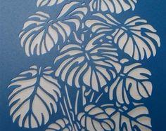 Embroidery Paper Monstera for embroidery or applique Printable Stencil Patterns, Stencil Templates, Stencil Designs, Paper Art, Paper Crafts, Stencil Art, Bird Stencil, Damask Stencil, Sgraffito