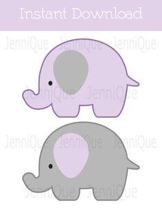 Printable Elephant Decor Elephant Baby Shower by JenniQuePrintShop