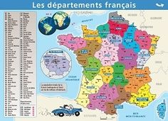 Mini poster Le Petit Nicolas® - Les départements français/Fleuves et reliefs ::: AEDIS