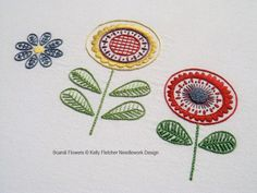 Scandi Flowers, a Scandinavian-style hand embroidery pattern
