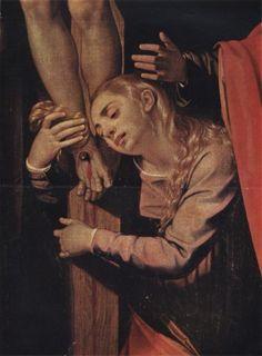 Magdalena al peu de la creu (detall) atribuït a Scipione Pulzone